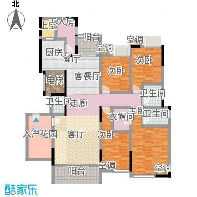 湖景壹号庄园户型4室1厅3卫