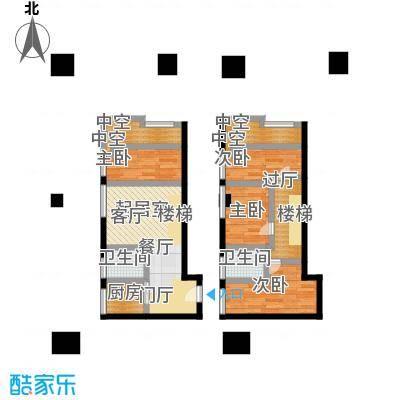 南国大武汉SOHO74.00㎡V座LOFT A8户型4室2厅2卫