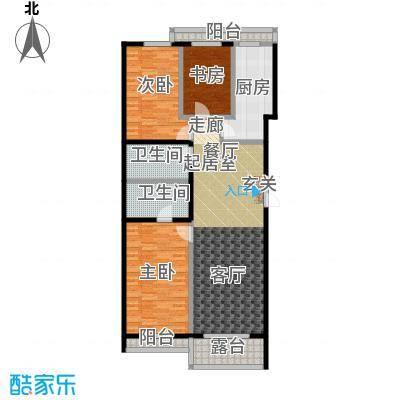 东润财智公馆137.50㎡D户型137.50平米三室两厅两卫户型3室2厅2卫