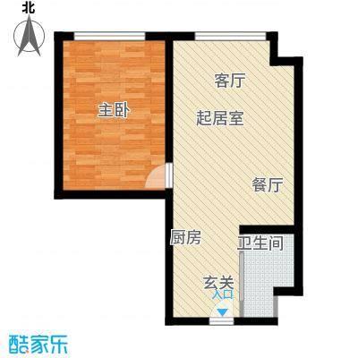 太伟方恒广场公寓D座BQQ户型1室1卫