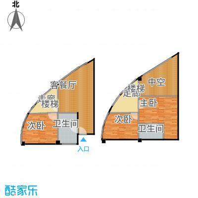 亚辰海派广场67.40㎡A户型3室1厅2卫