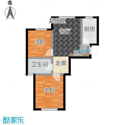 中拥塞纳城D1户型两室两厅一卫,66.07-69.66平米户型