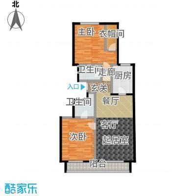 顺鑫・华玺瀚�116.00㎡S2户型2室2厅2卫
