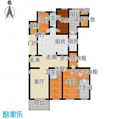 万科国际广场220.00㎡万科国际广场户型图T2户型四室两厅两卫(1/1张)户型4室2厅2卫