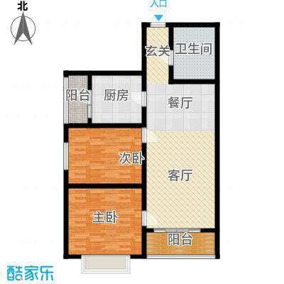 山水宜居90.94㎡山水宜居户型图(1/12张)户型2室2厅1卫