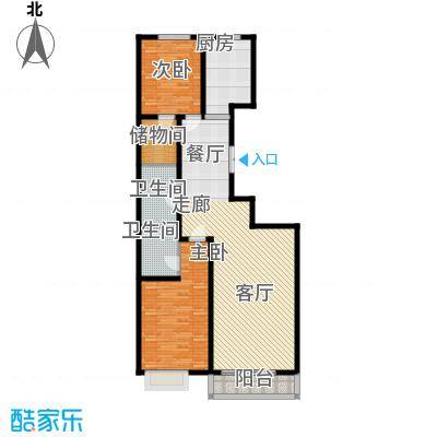 山水宜居115.00㎡山水宜居户型图Y户型(2/12张)户型2室2厅2卫