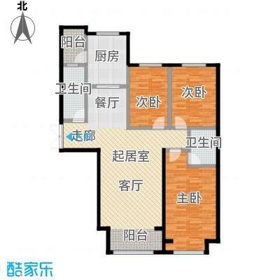 博雅园134.21㎡4#标准层三户型3室2卫1厨