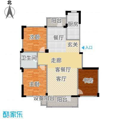 中海御湖熙谷117.00㎡C3户型