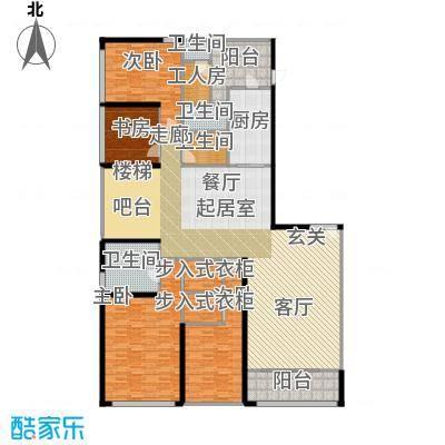 天銮364.82㎡A2栋3201单位32层东南向户型4室2厅3卫