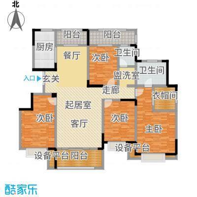漫山香墅175.00㎡电梯洋房D3户型四室两厅两卫户型4室2厅2卫