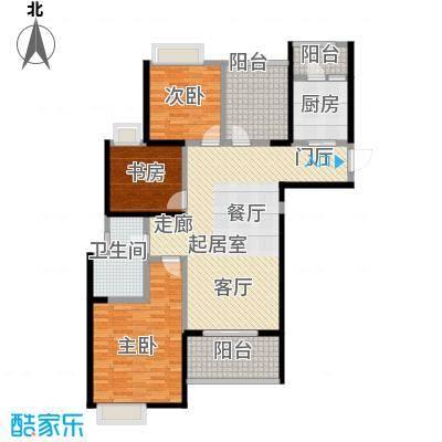 鑫苑鑫城121.00㎡C3户型3室2厅1卫