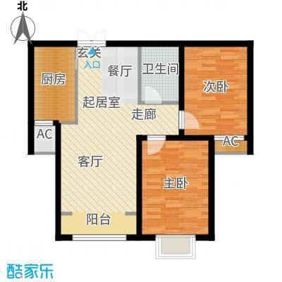 时代天骄94.55㎡时代天骄94.55㎡2室2厅1卫户型2室2厅1卫