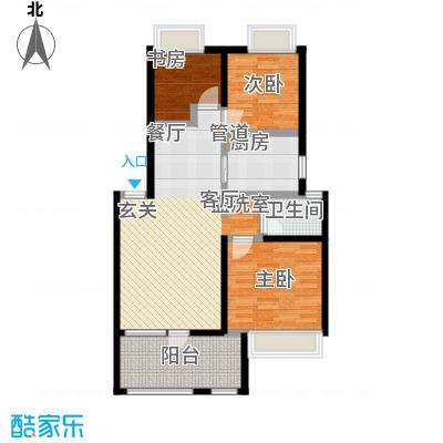 朗诗未来街区85.00㎡朗诗未来街区户型图1、2、3、5、6、7、8、9号楼标准层可乐居户型(13/13张)户型3室2厅1卫