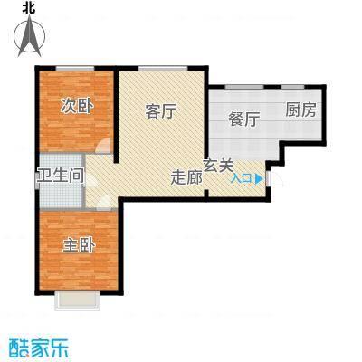 山水宜居108.00㎡山水宜居户型图(11/12张)户型2室2厅1卫