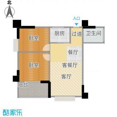 南门望城86.19㎡A-8景观阳台与卧室相连空间分割、独立紧凑赠送户型10室