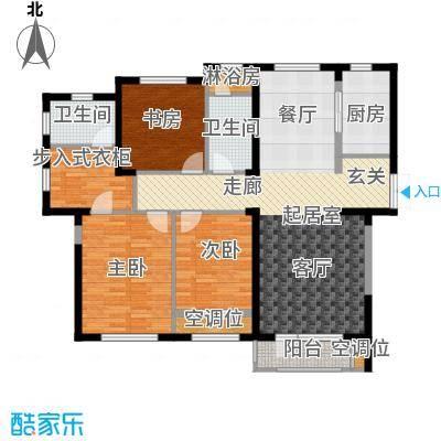 保利西山林语131.00㎡G4户型 3室2厅2卫户型3室2厅2卫