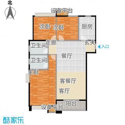 中海凤凰熙岸118.00㎡C3户型3室2厅2卫