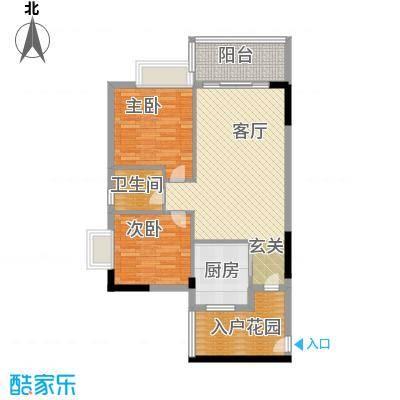 日出观山B4栋标准层03单位户型2室1厅1卫1厨