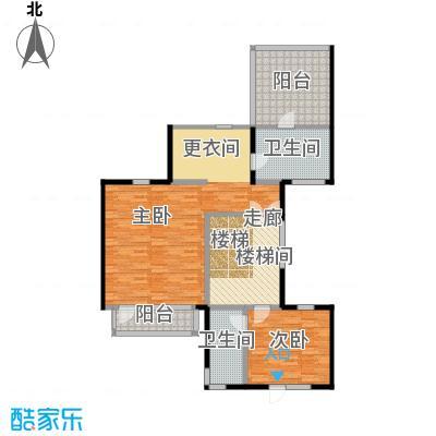 观唐云鼎108.34㎡D1二层户型2室2卫