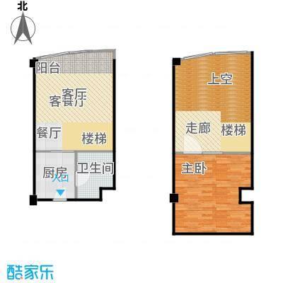 亚辰海派广场42.00㎡E户型1室1厅1卫