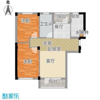 岚山著作86.00㎡G二室二厅一卫户型2室2厅1卫