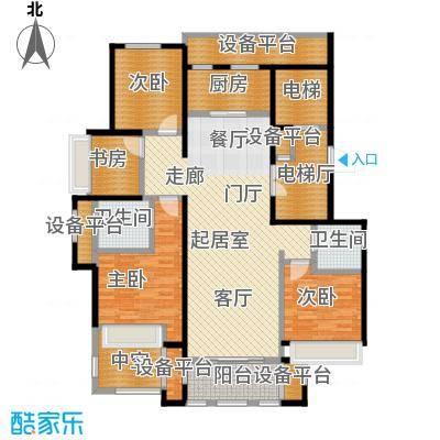 鼎旺大观139.20㎡D户型4室2厅2卫户型4室2厅2卫