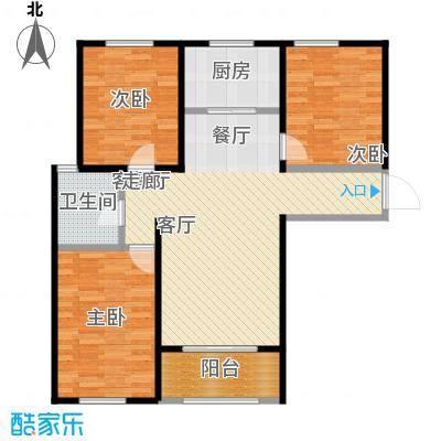 朗诗绿色街区C户型3室1厅1卫1厨