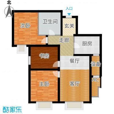 天津大都会120.00㎡五号地块 D户型3室2厅1卫