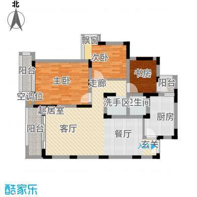 宝成嘉苑112.00㎡B户型3室2厅2卫