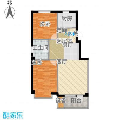 嘉恒国际75.00㎡嘉恒国际户型图(2/6张)户型10室