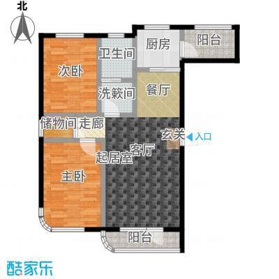 慧谷阳光B户型2室2厅1卫 89.57平米户型2室2厅1卫