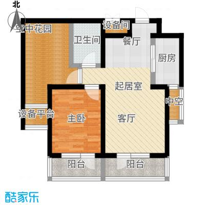正源吉祥e家祥福园67.35㎡B户型67.35平米户型图户型1室1厅1卫