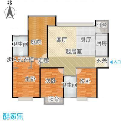 中信森林湖兰溪谷146.00㎡兰溪谷8栋户型3室2卫1厨