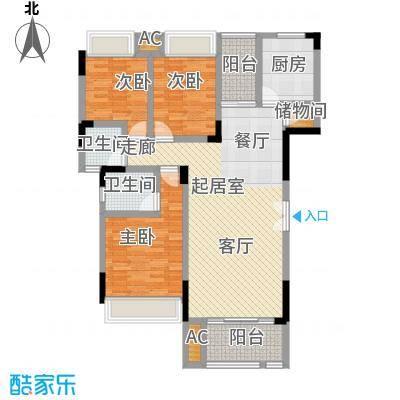 兰亭雅舍126.13㎡兰亭雅舍一期22、23号楼D户型 3室3厅2卫 126.13㎡户型3室3厅2卫