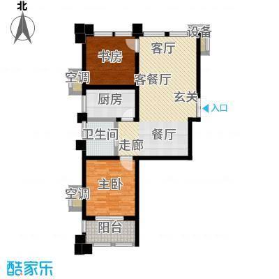 新港天之运花园82.00㎡F1户型2室2厅1卫