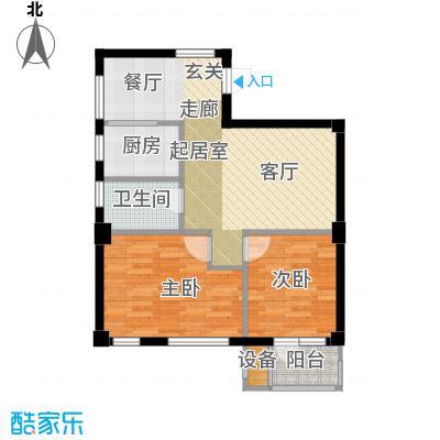 嘉恒国际嘉恒国际户型图约64㎡两室两厅一卫户型图(6/6张)户型10室