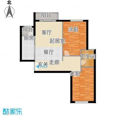 银丰花园101.00㎡银丰花园户型图两室两厅一卫(7/14张)户型2室2厅1卫