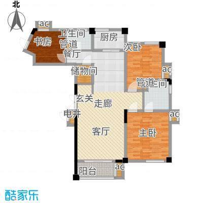 水木清华户型图C2户型(5/10张)