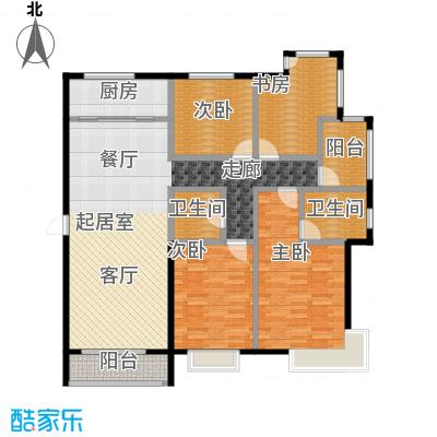 北京城建・世华泊郡158.00㎡13号楼H3户型4室2厅2卫
