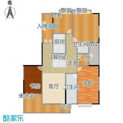 嘉裕丹顿阳光E座3-29层01单位户型2室2卫1厨