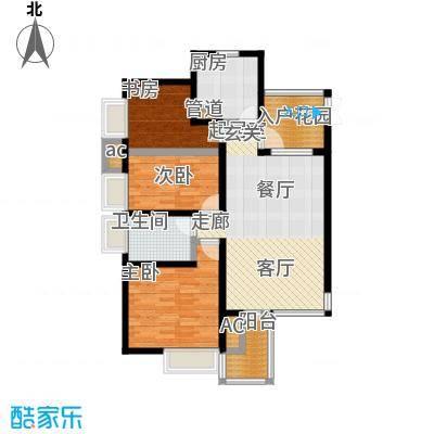亿城左岸香颂98.00㎡亿城左岸香颂户型图F1户型(2/4张)户型10室