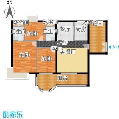 亿泉尚园户型3室1厅2卫1厨