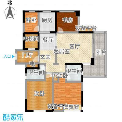 恒熙湖庭144.00㎡D户型4室2厅2卫