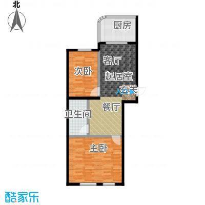 文景清华园71.56㎡两室两厅一卫户型2室2厅1卫