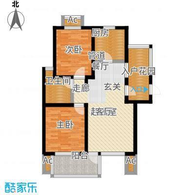 亿城左岸香颂82.09㎡亿城左岸香颂户型图C3户型(4/6张)户型10室