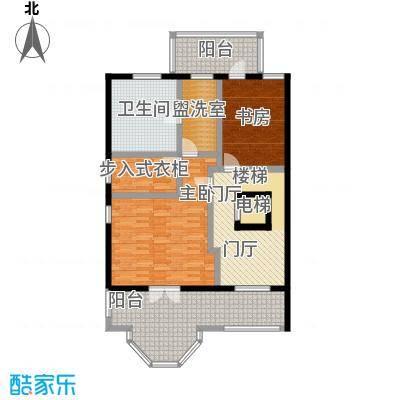 御苑113.00㎡双拼B-地上3F户型1室2厅1卫