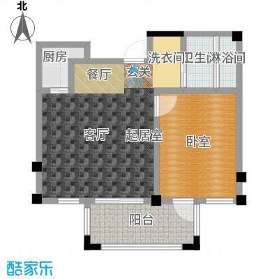远洋假日养生庄园53.00㎡B-5洋房 一室一厅一卫户型1室1厅1卫