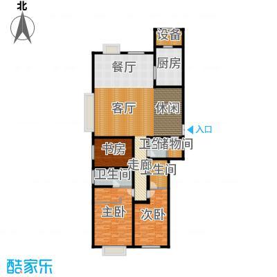 天津大都会268.00㎡2期2、3号楼标准层05户型4室2厅3卫