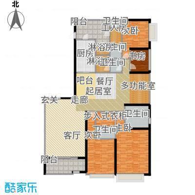 天銮264.30㎡A2和A6栋01单元(2-13 16-31 34-47层)户型4室2厅4卫