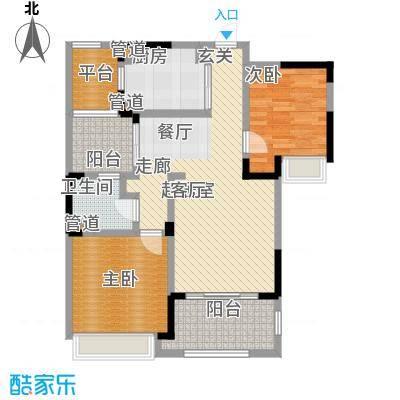绿地华尔道名邸88.00㎡绿地华尔道名邸户型图B2户型88平米(1/2张)户型2室2厅1卫